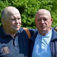 Předseda přeloučského klubu Bořek Trejbal a Leopold Blachut