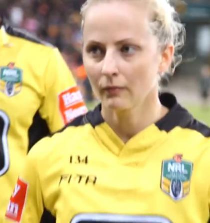 Belinda Sharpová bude první ženou, která bude pískat ragbyový zápas v Austrálii