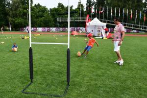 Ragby si mohou  zkusit zahrát  i návštěvníci olympijských parků v Praze a v Brně