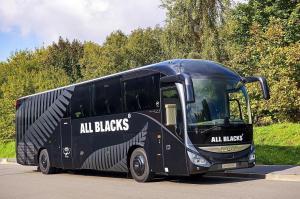 V ČR vyrobený autobus Iveco Bus Magelys vozil mistry světa v ragby All Blacks