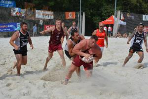 Tři finále česko-německého turnaje v ragby na písku v Praze vyhrály jen české týmy