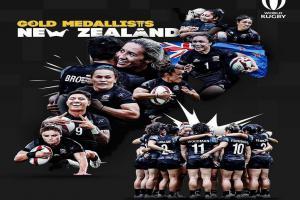 Zlaté olympijské medaile v ragby žen putují na Nový Zéland