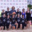 Písničkář Jaromír Nohavica pozdravil třetí ročník beach ragby v centru Ostravy