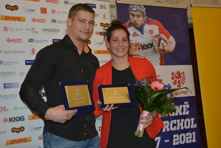 Ragbistou roku 2017 je Jiří Pantůček a Ragbistkou roku  2017 je Kateřina Nováková